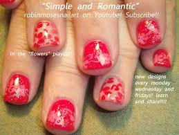Easy Nail Art for Short Nails | Cute Red Flower Nail Design - YouTube
