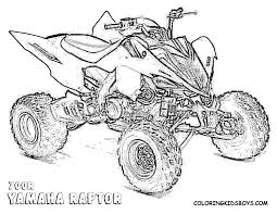 four wheeler coloring pages.  Wheeler Fourwheelers Coloring Pages   Raptor 700r Atv 4 Wheeler  Pages_visitcoloringkidsboyscom With Four Wheeler Coloring Pages