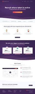 Nextgen Web Design Home Page For Recruitz Next Gen Job Advertising Web