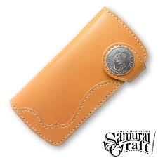 long wallet 2 saddle leather tanning natural overlay custom leather goods fabric handmade
