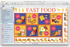 Food Court How To Design A Fast Food Restaurant Menu Using