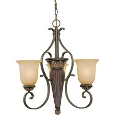 volume lighting bristol 3 light vintage bronze with antique gold chandelier