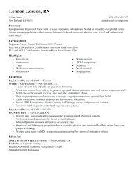 Registered Nurse Resume Example Amazing Sample Resume For Registered Nurse Registered Nurse Resume Samples