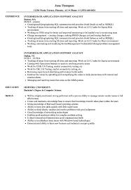 Intermediate Application Support Analyst Resume Samples Velvet Jobs