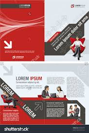 red black template advertising brochure business stock vector red and black template for advertising brochure business people