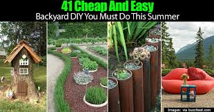 diy outdoor projects. Delighful Projects 41 Cheap And Easy Backyard DIY Projects You Must Do This Summer With Diy Outdoor H