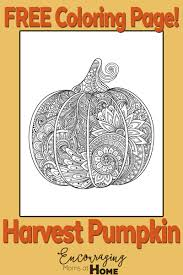 Small Picture Free Printable Harvest Pumpkin Coloring Page for Fall