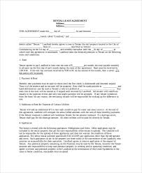 7+ Sample Renters Agreements | Sample Templates