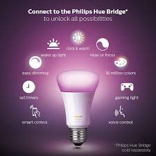 Philips Hue Light Bulb Types Philips Hue Single Premium A19 Smart Bulb 16 Million Colors For Most Lamps Overhead Lights Hue Hub Required Works With Alexa Old Version
