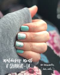 Nail Designs With Mint Color Color Street Maldives Mint With A Shangri La Accent Nail