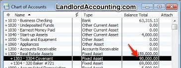 Chart Of Accounts Property Management In Quickbooks
