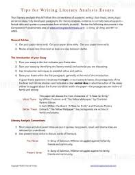 writing about literature writing teacher tools tips for writing literary analysis essays