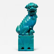 chinese large turquoise foo dog tap to expand
