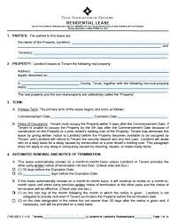 Simple Residential Lease Agreement Template Word Document