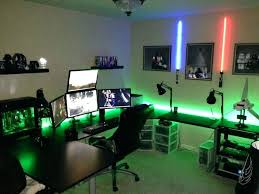 Image home computer setup Design Decoration Fabulous Gaming Desk Setup Cool Office Furniture Design Plans With Ideas About Home Computer Theroegroupco Decoration Amazing Home Office Workspace Desk Setup Is By Computer