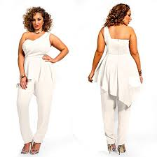 white jumpsuit plus size hot sexy womens one shoulder plus size wrapped dress romper