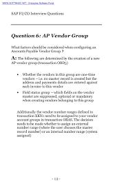 sap fico interview questions preview net enterprise software portal 12