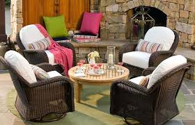 modern patio and furniture medium size patio furniture with sunbrella cushions brown piece wicker outdoor teak