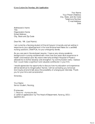 Example Of A Cover Letter For Nursing 10 Sample Cover Letter For Nurses Resume Resume Samples