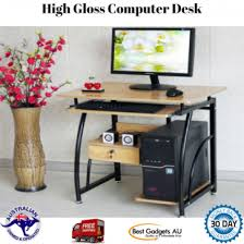 home office computer. Perfect Home Home Office Computer Desk Table High Gloss Furniture Pullout Drawer And  Shelves To