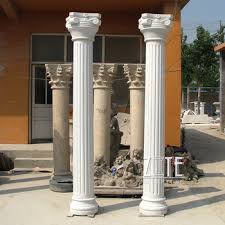 garden pillars.  Garden Outdoor Garden Ornament Marble Roman Pillars Column Intended Pillars L
