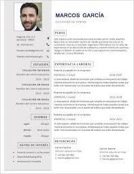 Modelo De Curriculum Vitae Moderno Y Atractivo