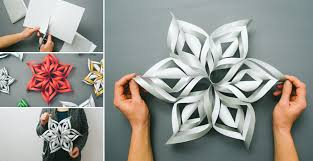 paper snowflakes 3d how to make 3d paper snowflake diy crafts handimania