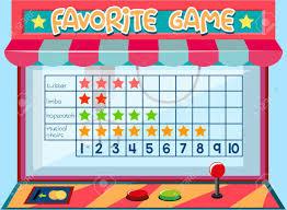 Math Game Ata Chart Picture Graph Concept Illustration