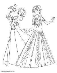 Small Picture Coloring Pages Elsa And Anna Coloring Page Fun