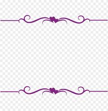 decorative border clipart purple pink