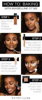 learn to bake like a makeup pro with maybelline fit me foundation baking is the