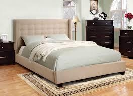 tufted upholstered bed. Ivory Flannelette Tufted Upholstered Bed Frame - CA7689F