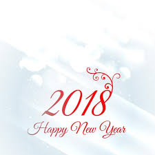 2018 Happy New Year Greeting Card Design Background Download Free