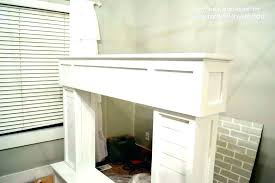 fireplace mantel height with above gas surround code