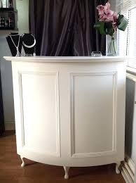 vintage reception desk curved salon reception desk french style shabby chic painted cream nails salon reception