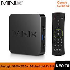 In Stock MINIX New NEO T5 TV BOX Amlogic S905X2 2G 16G Chromecast 4K Ultra  HD Google Certified Android TV 9.0 Pie Smart TV BOX|Set-top Boxes