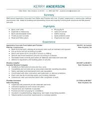 Appointment Setter Resume New Concrete Plant Operator Sample Resume Unique Plant Operator Resume
