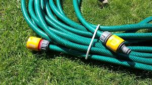 long garden hose with push fittings