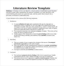 Apa Literature Review Template Template For A Literature