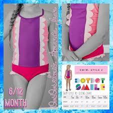 Dot Dot Smile Size Chart 6 12 Month Dds Swimwear Nwt