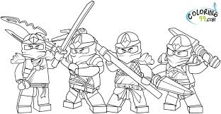 Small Picture Fighting Lego Ninjago Free Coloring Pages Free Printable