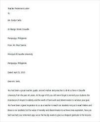 retirment letter teacher retirement letter sample teacher retirement letter