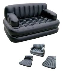 5in1 inflatable sofa air bed black