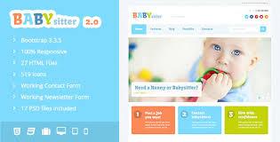 Babysitters Online Free Babysitter Responsive Html Template By Dan_fisher Themeforest