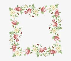 Paper With Flower Border Paper Border Flowers Clip Art Transparent Background