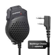Baofeng Lautsprecher Mic Mikrofon Dual PTT Für pofung walkie talkie UV 82  UV82 UV 82L UV 8D UV 89 UV 82HP Tragbare CB Radio Funkgerätteile und  -Zubehör