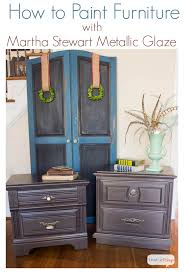 Nightstand Makeover with Martha Stewart Metallic Glaze. Decorating  Furniture Painting