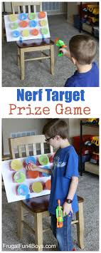 Nerf Target Prize Game - Hide prizes in the cups, and kids get one when