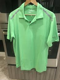 Details About Nike Golf Mens 60 Pga Tour Performance Polo Shirt 639243 Lime Green Gray Sz M