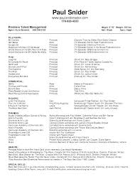 Theatre Resume Amazing Theatre Resume Template Actor Resume Format Acting Resumes Templates